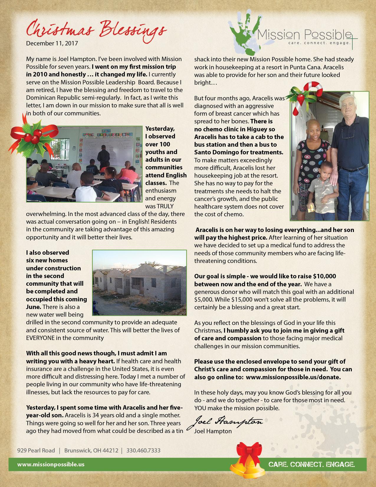 MP Christmas Letter